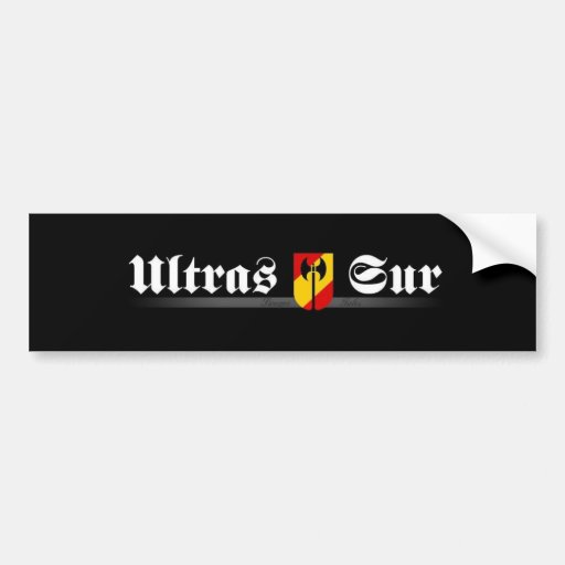 ultrassur Ultras Sur Real Madrid Pegatina De Parachoque