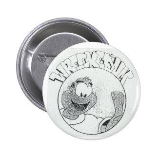 'Um botón arruinado del logotipo del círculo de Me