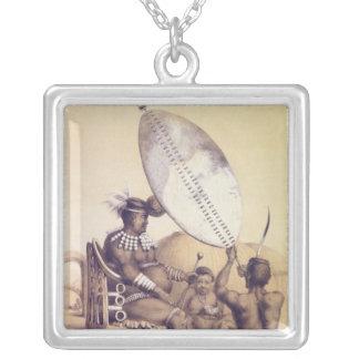Umpanda el rey del Amazulu, 1849 Collar Plateado