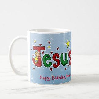 Un abrazo de Jesús del feliz cumpleaños de poco Taza De Café