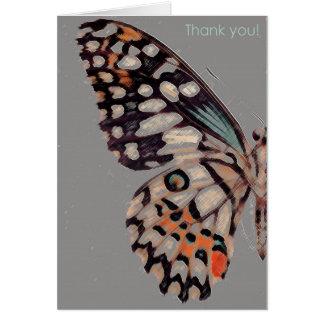 Un agradecimiento usted cardar con una imagen tarjeta pequeña