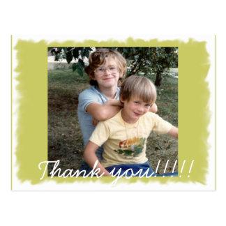 ¡Un agradecimiento usted postal de la foto!