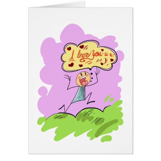 Un amante feliz tarjeta de felicitación