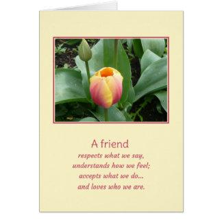 Un amigo… tarjeta de felicitación