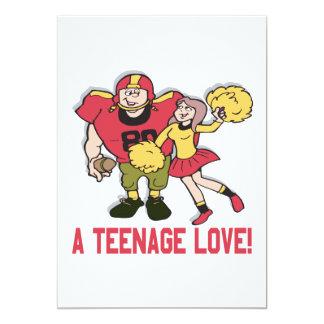 Un amor adolescente invitación 12,7 x 17,8 cm