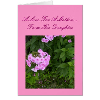 Un amor para una madre… de su tarjeta de la hija