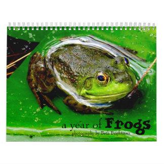 Un año de calendario de las ranas