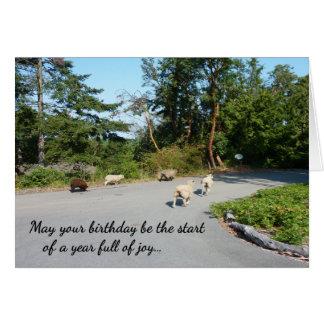 Un año lleno de cumpleaños religioso de la tarjeta de felicitación