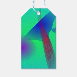 Un árbol de pino etiquetas para regalos