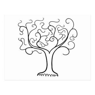 Un árbol simple postal