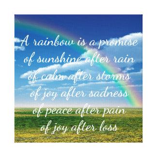 Un arco iris es una promesa lienzo