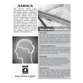 Un aviador blanco y negro de la calidad de miembro folleto 21,6 x 28 cm