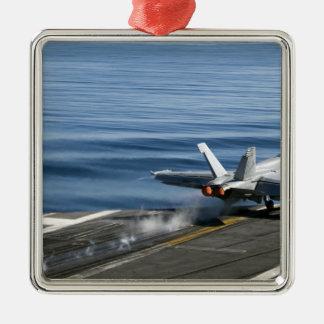 Un avispón estupendo de F/A-18E Adorno Navideño Cuadrado De Metal