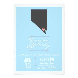Un azul de cielo invitación del boda de Las Vegas,