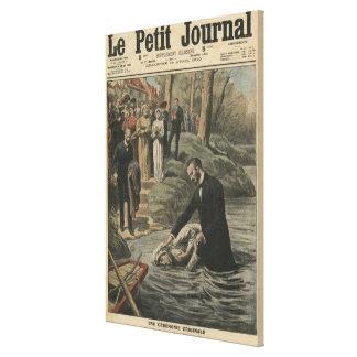 Un bautismo adventista en el La Marne Impresión En Lona Estirada