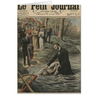 Un bautismo adventista en el La Marne Tarjeton