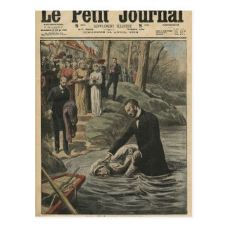 Un bautismo adventista en el La Marne Postal