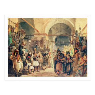 Un bazar turco, 1854 (lápiz y w/c en el papel) postal