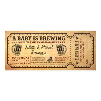 Un bebé está elaborando cerveza invitaciones del invitación 10,1 x 23,5 cm