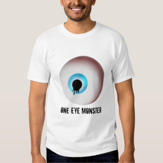un blanco del monstruo del ojo camiseta