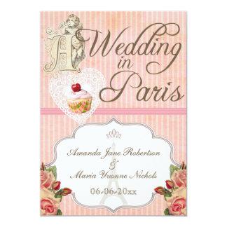 Un boda gay en París Invitación 12,7 X 17,8 Cm