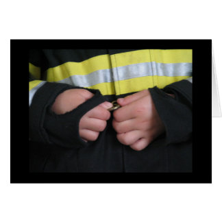 Un bombero de la mamá tarjeta de felicitación