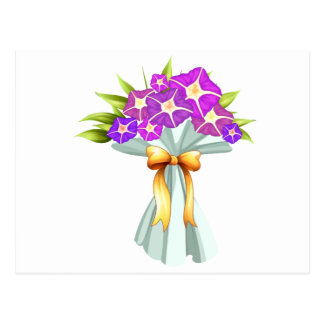 Un boquet de las flores violetas postal