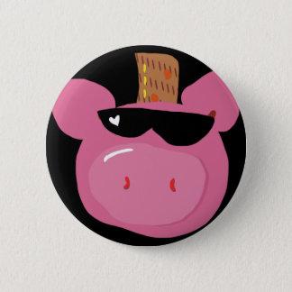 Un botón rosado adorable del cerdo