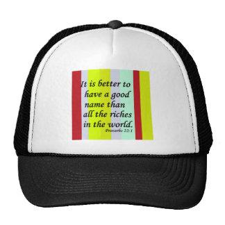 Un buen nombre gorras