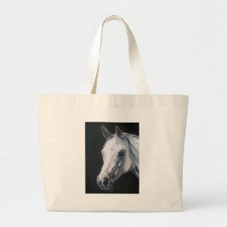Un caballo blanco bolso de tela gigante