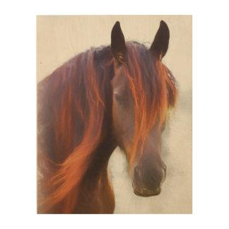 Un caballo nombrado impresión de madera Red