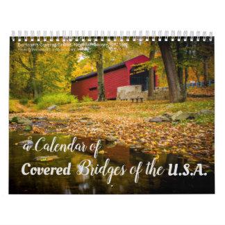 Un calendario 2018 de puentes cubiertos en los