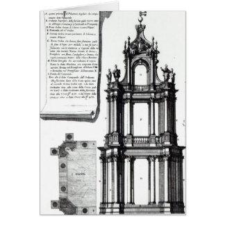 Un campanil diseñado para San Pedro, Roma Tarjeta De Felicitación