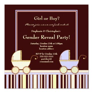 Un carro para un género del chica o del muchacho invitación 13,3 cm x 13,3cm