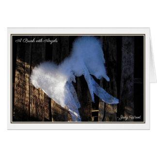 Un cepillo con ángeles - tarjeta en blanco