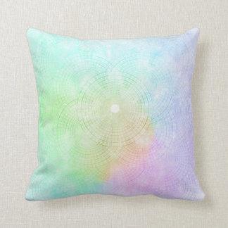Un chapoteo de la almohada en colores pastel