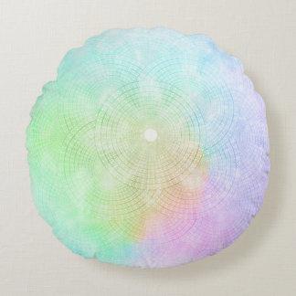 Un chapoteo de la almohada redonda en colores cojín redondo