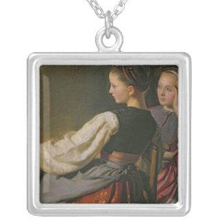Un chica de Probsteier, 1844 Colgante Cuadrado