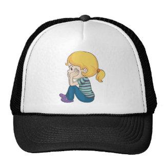 un chica gorra
