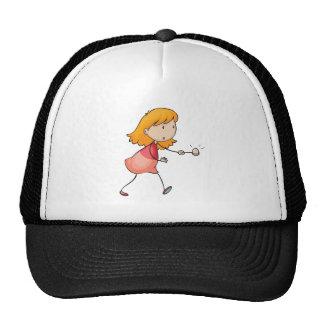 un chica gorras de camionero