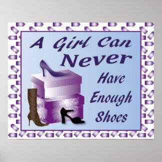 Un chica puede nunca tener bastante poster de los