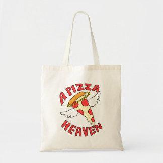 Un cielo de la pizza bolso de tela