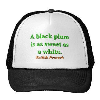 Un ciruelo negro está como dulce - proverbio gorro de camionero