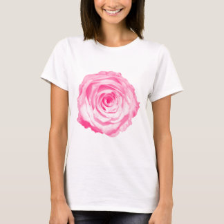 Un color de rosa rosado camiseta