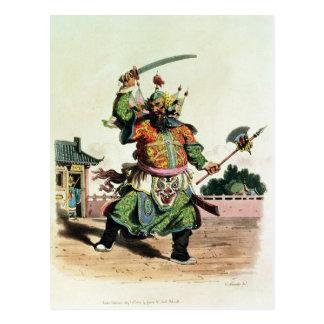 Un cómico chino postal