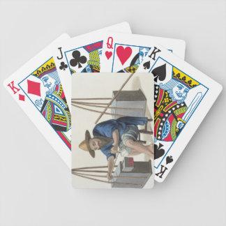 Un componedor de la porcelana, platea 28 'del traj baraja de cartas