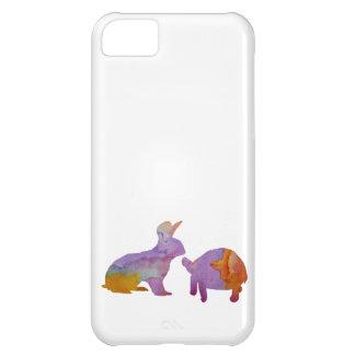 Un conejo y una tortuga carcasa para iPhone 5C
