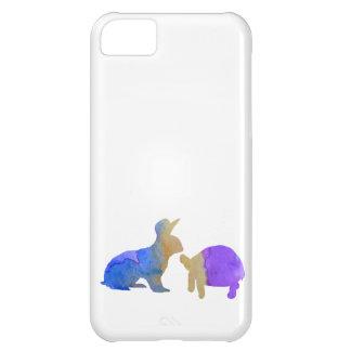 Un conejo y una tortuga funda para iPhone 5C