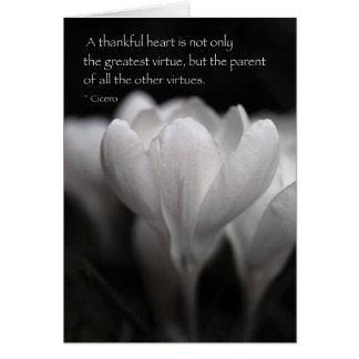 Un corazón agradecido tarjeta de felicitación