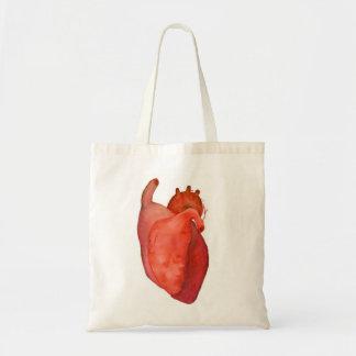 un corazón bolsa tela barata